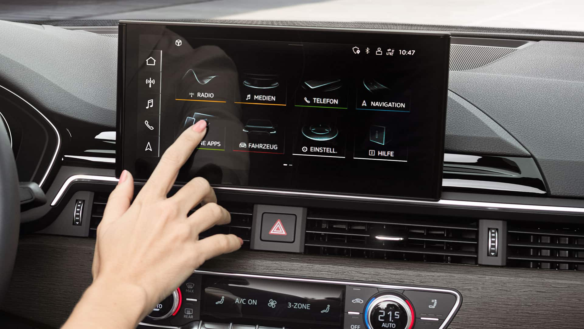 MMI touch display i Audi A5 Cabriolet
