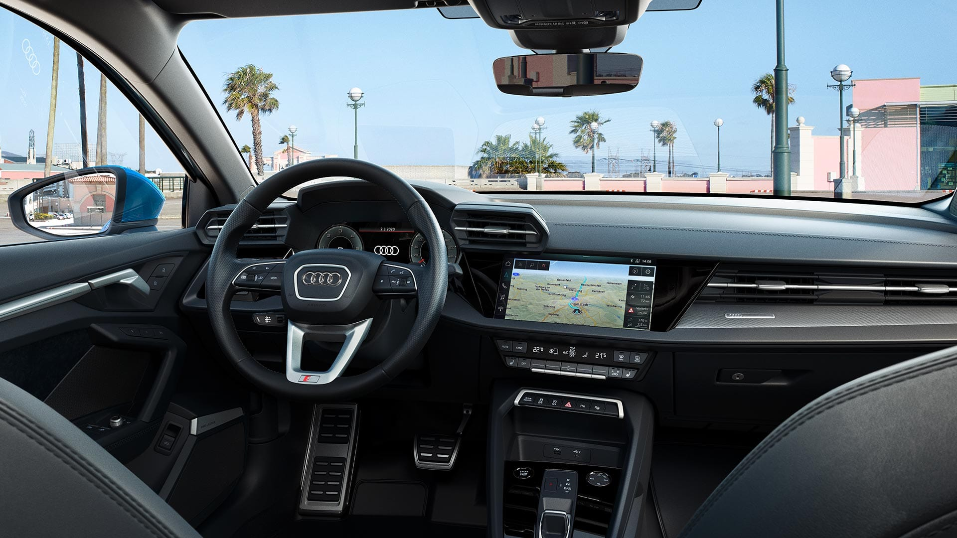 The interior of the Audi A3 Sportback