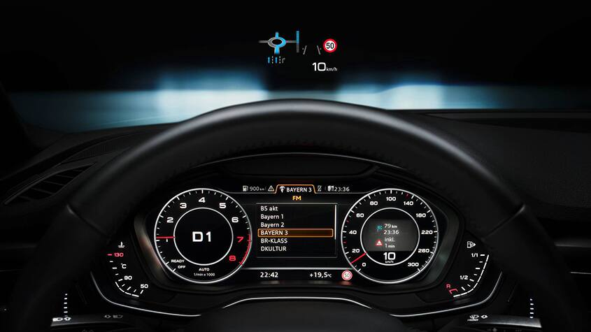 Head-up display i A5 Cabriolet