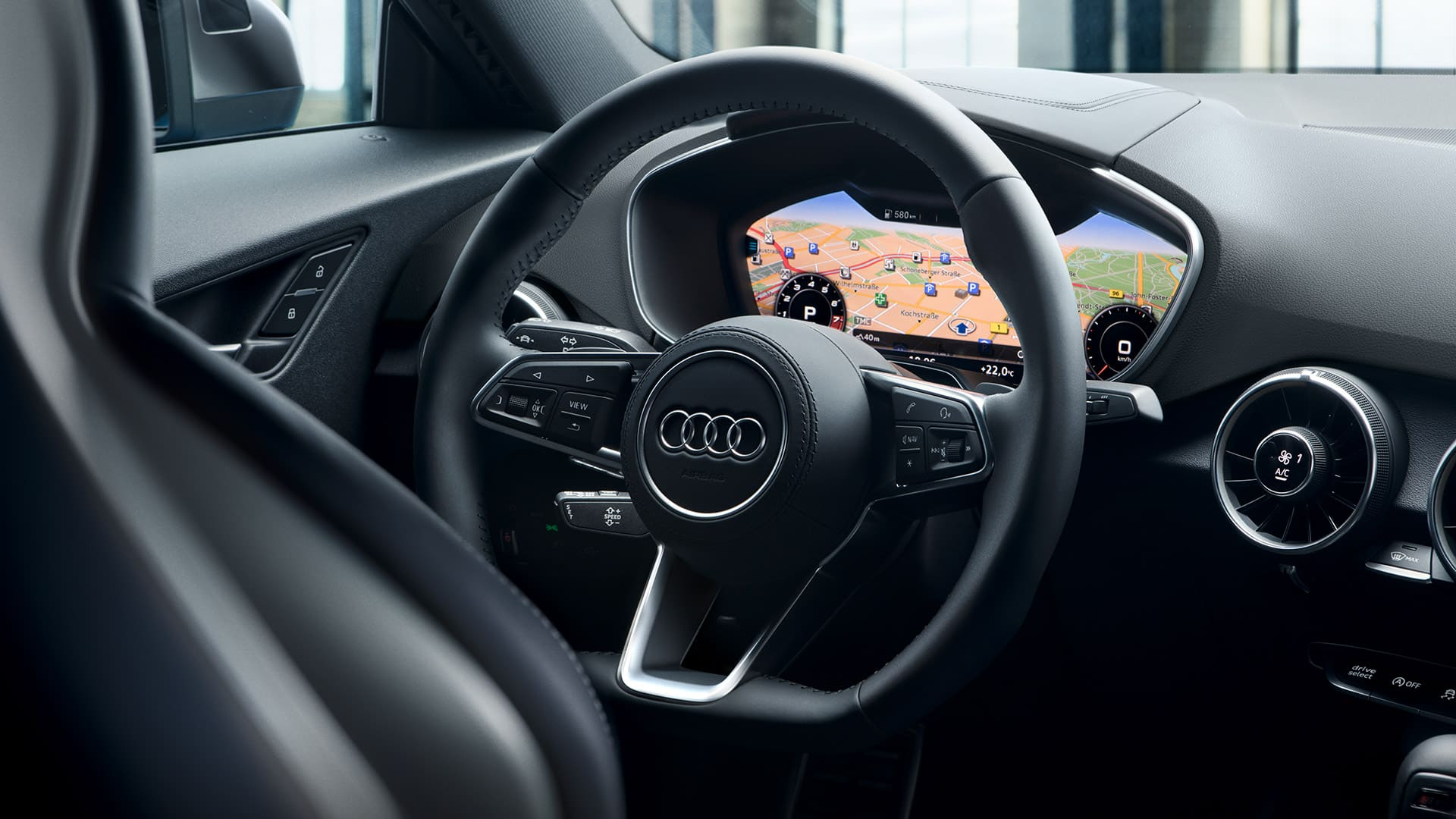 Virtual cockpit i Audi TT Coupé